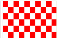Red And White Check 5' x 3' Larger Sleeved Flag